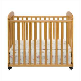 DaVinci Alpha Mini Rocking Mobile Wood Baby Honey Oak Crib