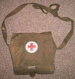 Soviet USSR Russian Military Medic Medical First Aid FULL Pouch Bag