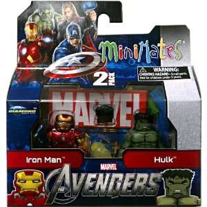 Series 45 Avengers Movie Mini Figure 2Pack Iron Man Hulk Toys & Games