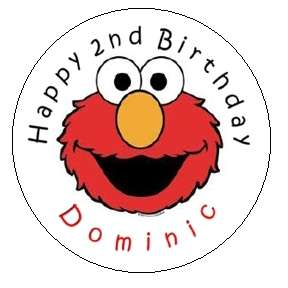 Elmo Birthday Personalized 2.5 Round Labels for Favors
