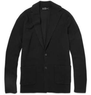 Ralph Lauren Black Label Knitted Merino Wool Blend Cardigan  MR
