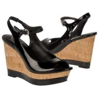 Womens Franco Sarto Safari Black Patent Shoes