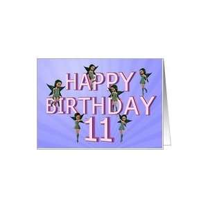Flower fairies birthday card 11 years old Card: Toys & Games
