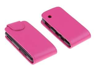 PINK Flip Leather Case/Cover/Pouch LG GS290 GS 290 New