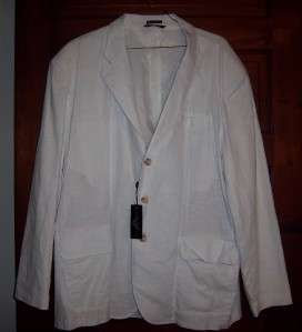 NEW Andrew Fezza 80s Don Johnson Miami Vice White Blazer Jacket XXL