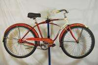 Schwinn Wasp balloon tire bicycle rat rod cantilever frame red