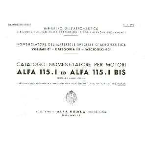 Alfa Romeo 115.I Aircraft Engine Parts Manuals Alfa Romeo 115 I