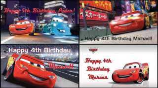 Lightning McQueen Mater Cars 2 Movie Birthday Party Banner Decorations