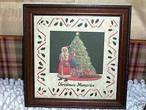 DESIGNS W SCISSORS FRAMED PIC CHRISTMAS MEMORIES 1987