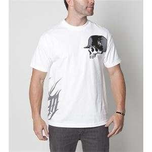 Metal Mulisha Slant T Shirt   Large/White Automotive