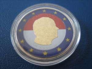 MONACO 2 EURO 2009 PRINCE ALBERT II, COLORIERT
