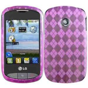 Pink TPU Case Cover for LG 800G Cookie Style: Cell Phones