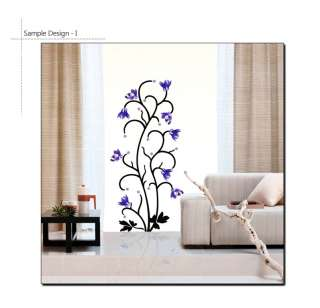 VIOLET FLOWER TREE ★ HOME DECO MURAL DECAL WALL STICKER