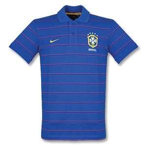 Brazil Blue Polo Shirt 2010