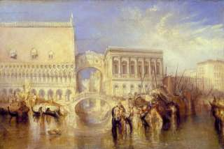 JOSEPH MALLORD WILLIAM TURNER Venedig, die Seufzerbrücke