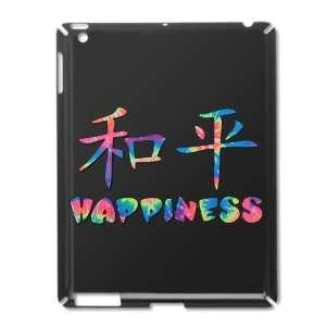 iPad 2 Case Black of Asian Happiness in Tye Dye Colors