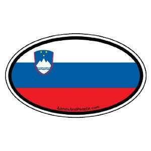 Slovenia Flag Car Bumper Sticker Decal Oval