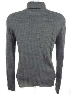 ANNE KLEIN Gray Turtleneck Wool Sweater Shirt Sz L
