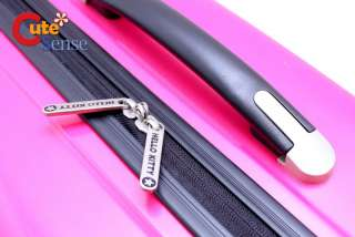 Sanrio Hello Kitty Trolley Bag Emblms Luggage Pink 5