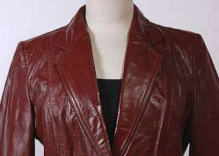 WOMENS VTG CUTE SOFT LEATHER HIPSTER JACKET/BLAZER sz M