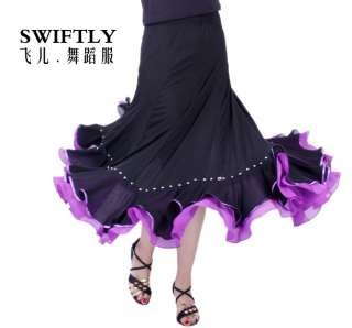 Latin salsa tango Ballroom Dance Dress #M062 skirt