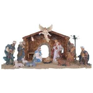 12 Piece Nativity Set Holy Religious Figurines With Manger And Light