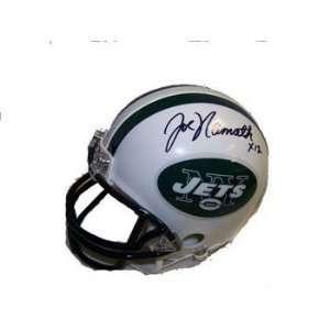 Joe Namath Autographed / Signed New York Jets Mini Helmet