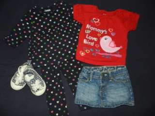 50 PIECE LOT BABY GIRLS SPRING SUMMER CLOTHES SIZE 12 18 MONTHS, SHOES