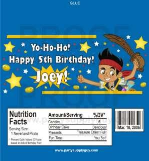 Customized Jake Neverland Pirate Candy Wrapper Wrap Kit