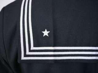 100% WOOL Military SAILOR Shirt Jumper Cracker Jack UNIFORM 44R