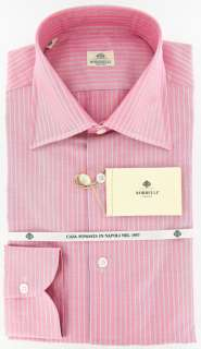 New $425 Borrelli Pink Shirt 15.5/39