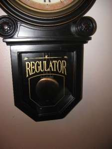 Schoolhouse Regulator Wall Clock; REAL WOOD; Rich