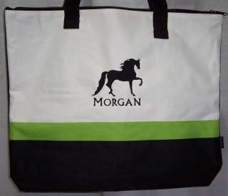 MORGAN HORSE Green Tote Bag NEW gaited equestrian