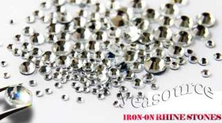 1440 pcs SS10 Hotfix Iron on Rhinestones Clear Crystal 3mm