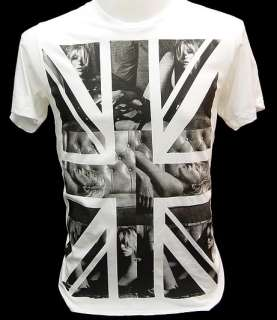 KATE MOSS UK British Union Jack Flag Punk def T Shirt L