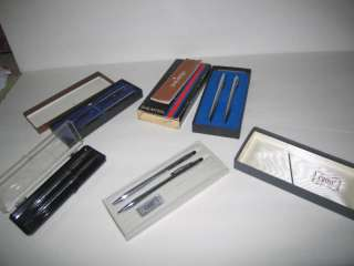 Vtg Sheaffer Cross Pen Desk Set Lot