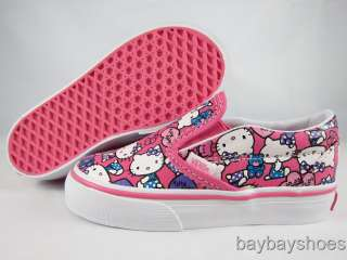 VANS CLASSIC SLIP ON HELLO KITTY PINK/WHITE/PURPLE/BLUE BABY INFANT