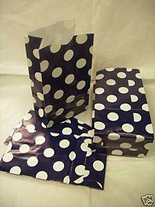 45 Paper Merchandise Gift Jewelry Party Bag Blue Dot4x8