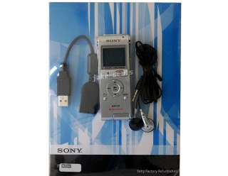 Sony ICD UX200 Digital Voice Recorder Silver Stereo Mic