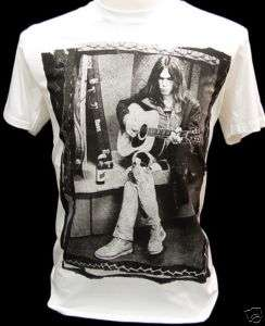 NEIL YOUNG VTG Rock Guitarist Legend Retro T Shirt L