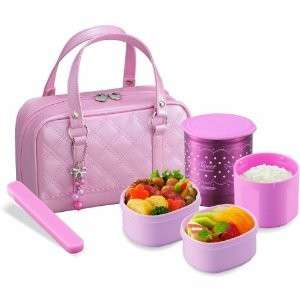 Japnaese Lunch Box Set ZOJIRUSHI Lunch thermos PINK
