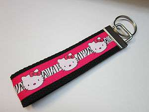 Print Hello Kitty Wristlet Key Chain Key Fob Great For Gifts