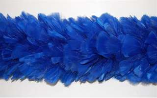 TURKEY BOA   ROYAL BLUE 2 Yards 8 10 Feathers Costumes