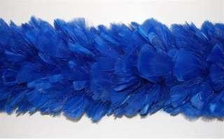 TURKEY BOA   ROYAL BLUE 2 Yards 8 10 Feathers Costumes |