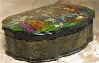 HAND PAINTED LACQUER BOX AUTHENTIC RUSSIAN FAIRY TALE