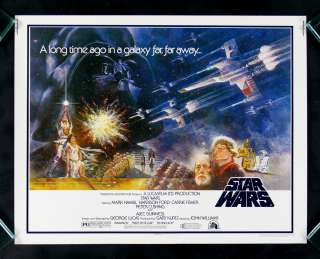 STAR WARS * HALF SHEET ORIGINAL MOVIE POSTER 1977 NM M