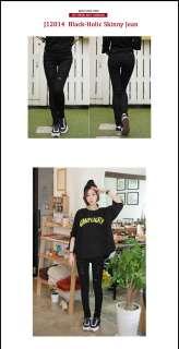 Edge Black slim Skinny Jeans Korea Style Pants 25~32 NWT J19