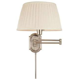 Hampton Bay Brushed Nickel Swing Arm Wall Light HBP604 35 at The Home