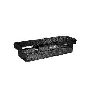 Full Size Black Aluminum Cross Bed Toolbox TALF581BK at The Home Depot