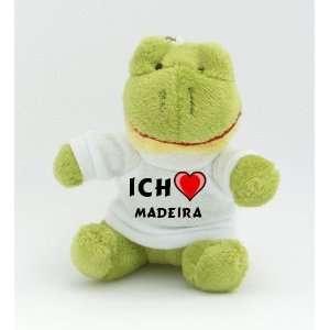 Frosch Schlüsselhalter mit T shirt mit Aufschrift Ich liebe Madeira